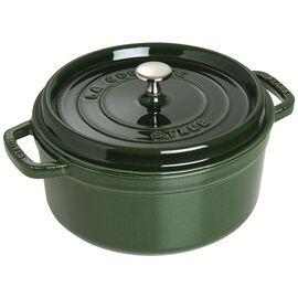 Staub Cast Iron, 13.25-qt Round Cocotte - Basil
