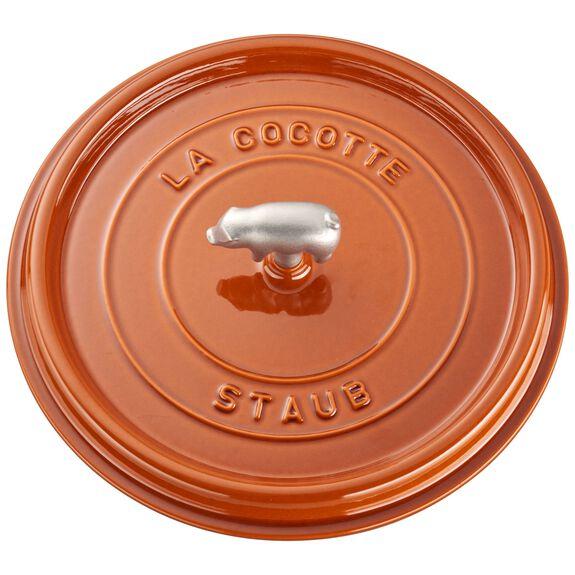 6-qt Cochon Shallow Wide Round Cocotte - Burnt Orange,,large 4