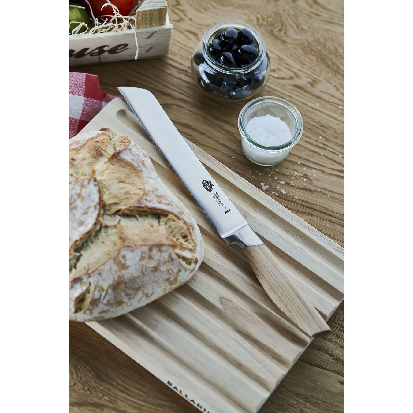 Coltello da pane seghettato - 20 cm, saldato, naturale,,large 3