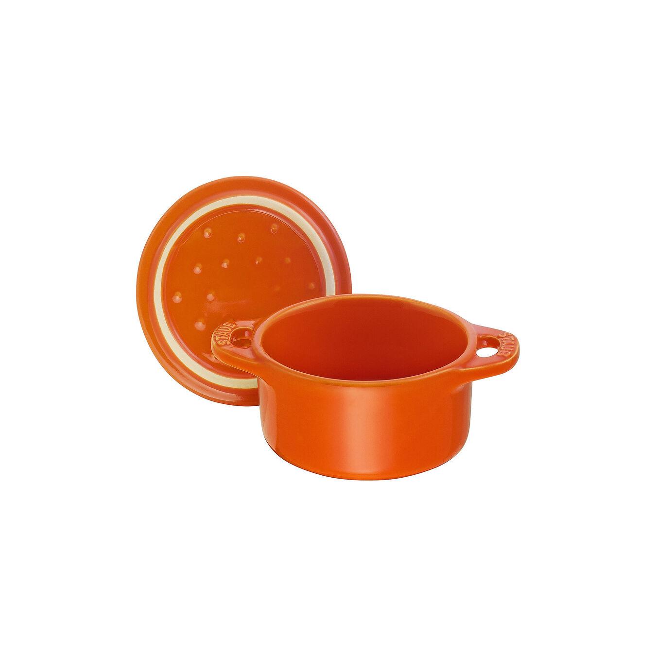 Mini Cocotte 10 cm, Rond(e), Orange, Céramique,,large 6