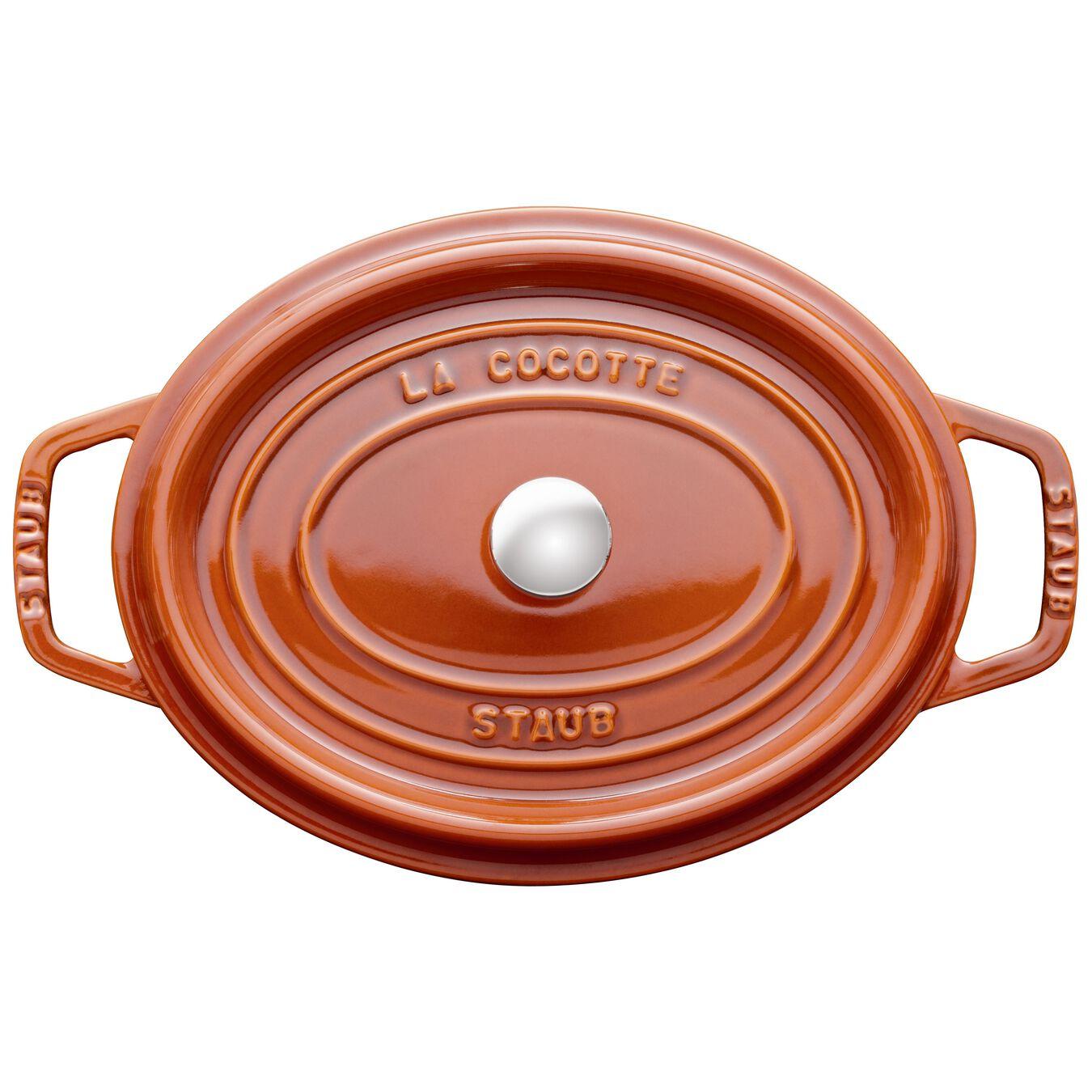 5.5 l Cast iron oval Cocotte, Cinnamon,,large 2