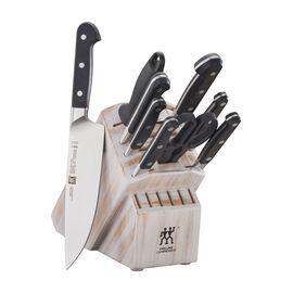 10-pc Knife Block Set, Rustic White