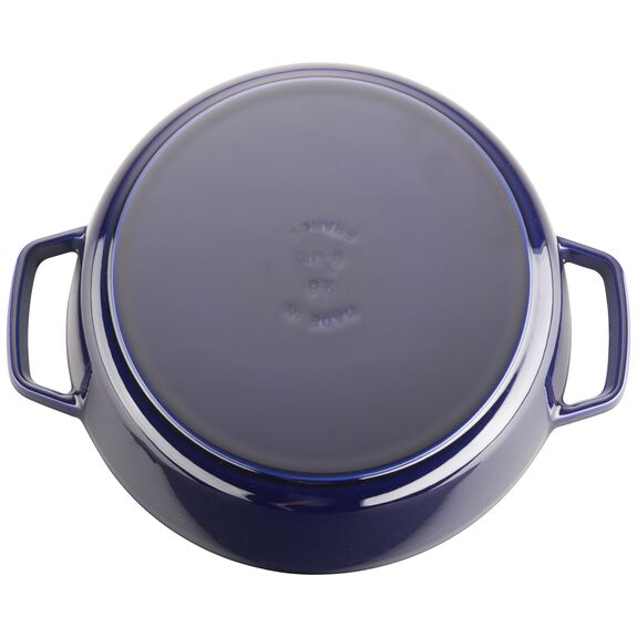 6-qt Cochon Shallow Wide Round Cocotte - Dark Blue,,large 3