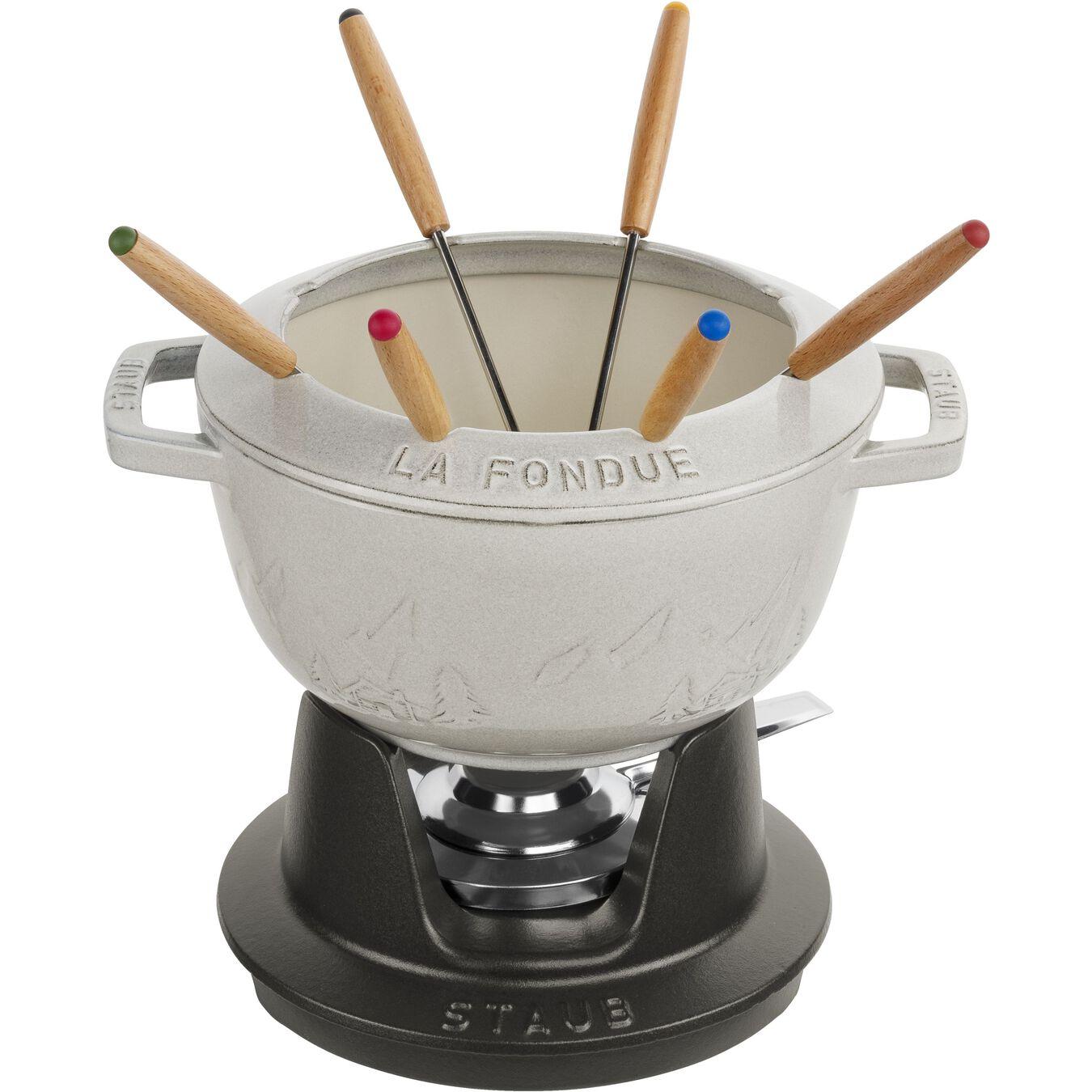 Service à fondue 20 cm, Truffe blanche,,large 1