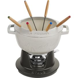 Staub La fondue, Service à fondue 20 cm, Truffe blanche