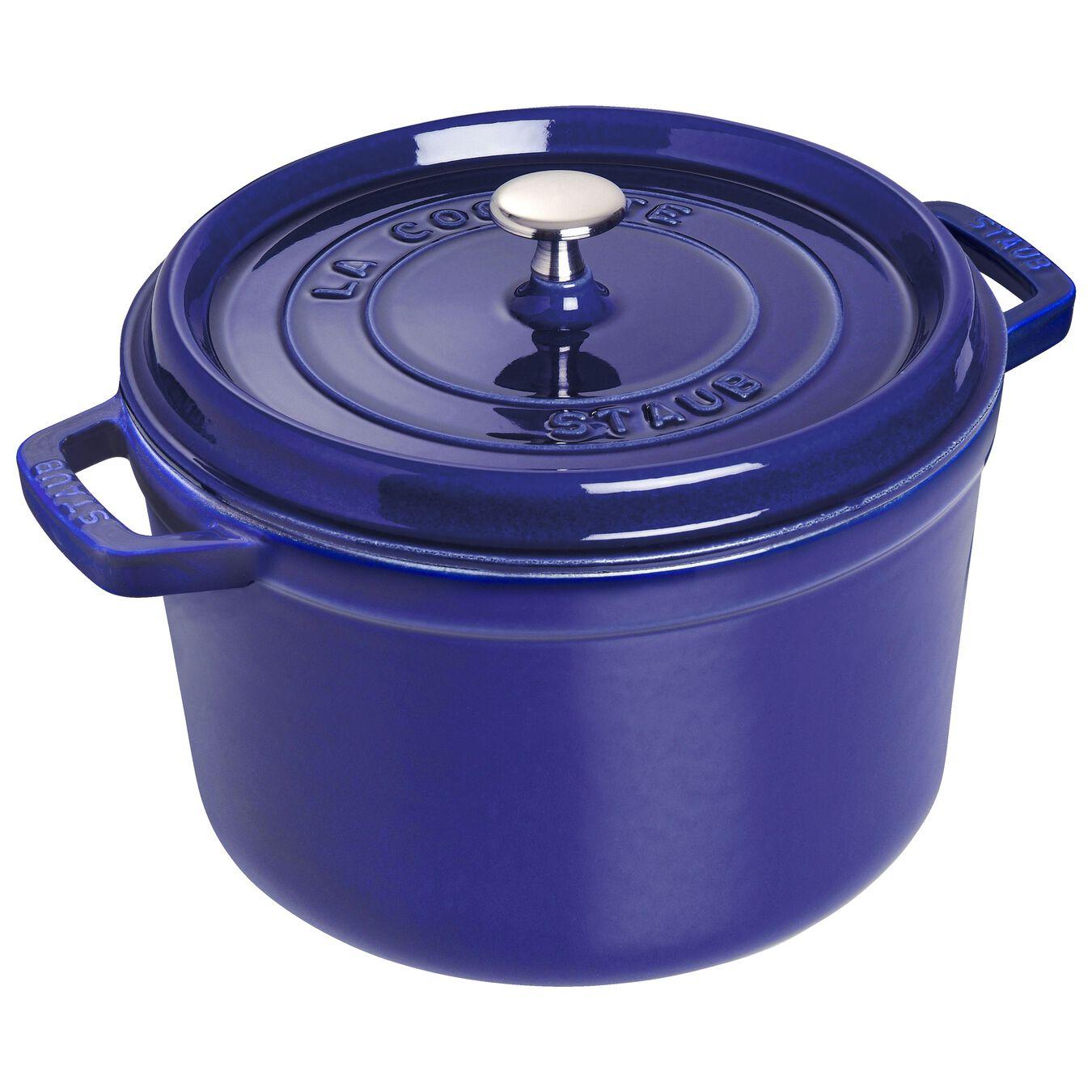 4.75 l Cast iron round Cocotte, dark-blue,,large 1