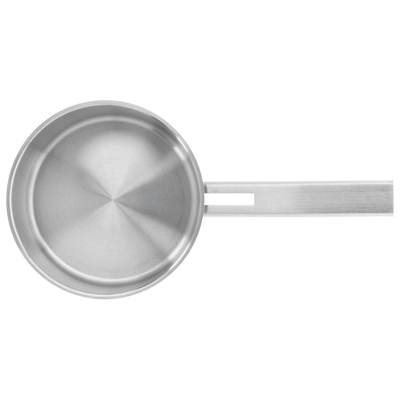Stieltopf mit Deckel 18 cm, 18/10 Edelstahl, Silber,,large 2