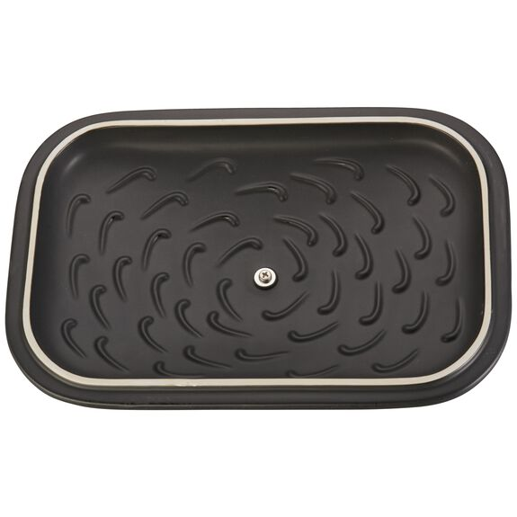 Ceramic Rectangular Covered Baking Dish, Black,,large 5