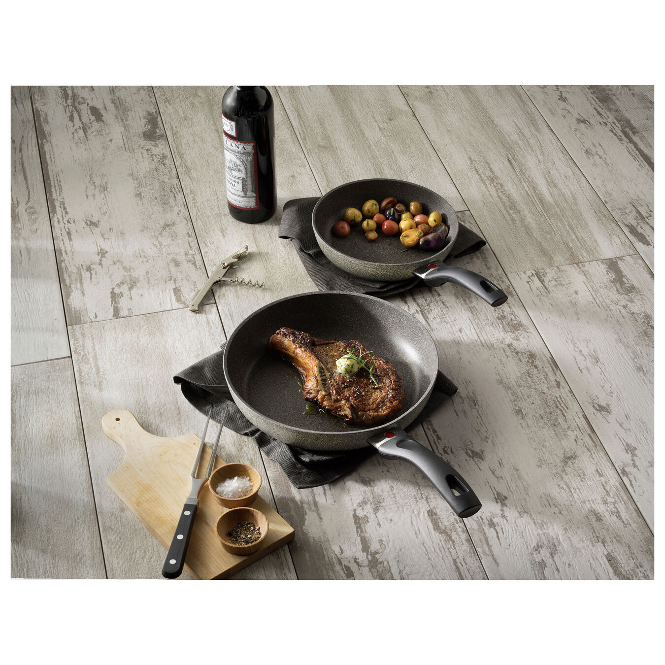 2-pc, Non-stick, Frying pan set,,large 4