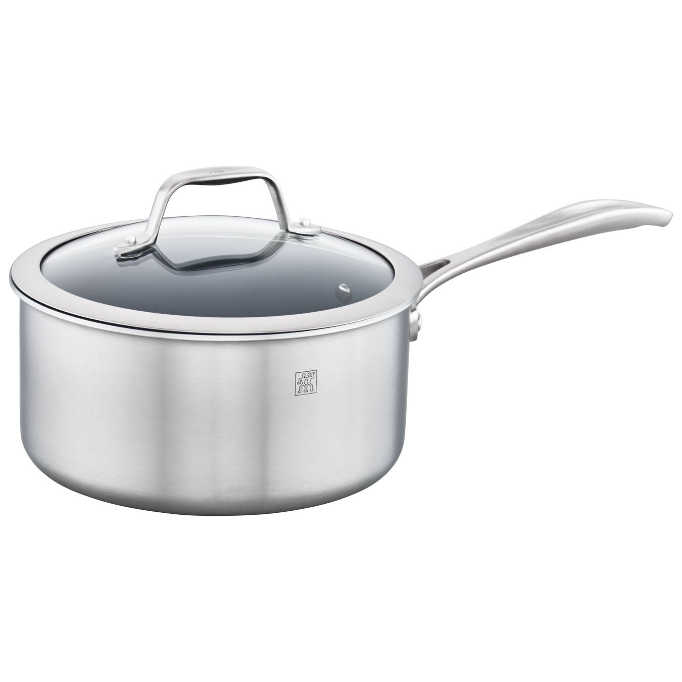 3-ply 3-qt Stainless Steel Ceramic Nonstick Saucepan,,large 2