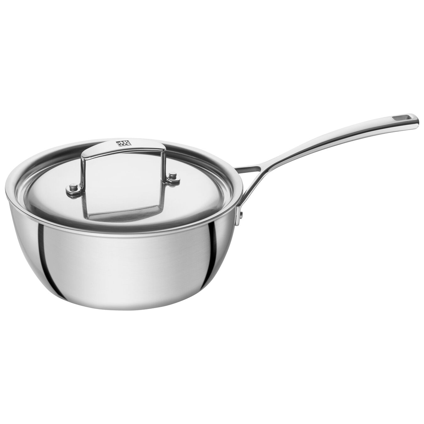 5 Ply, 18/10 Stainless Steel, 1.75 qt, Sauteuse,,large 1