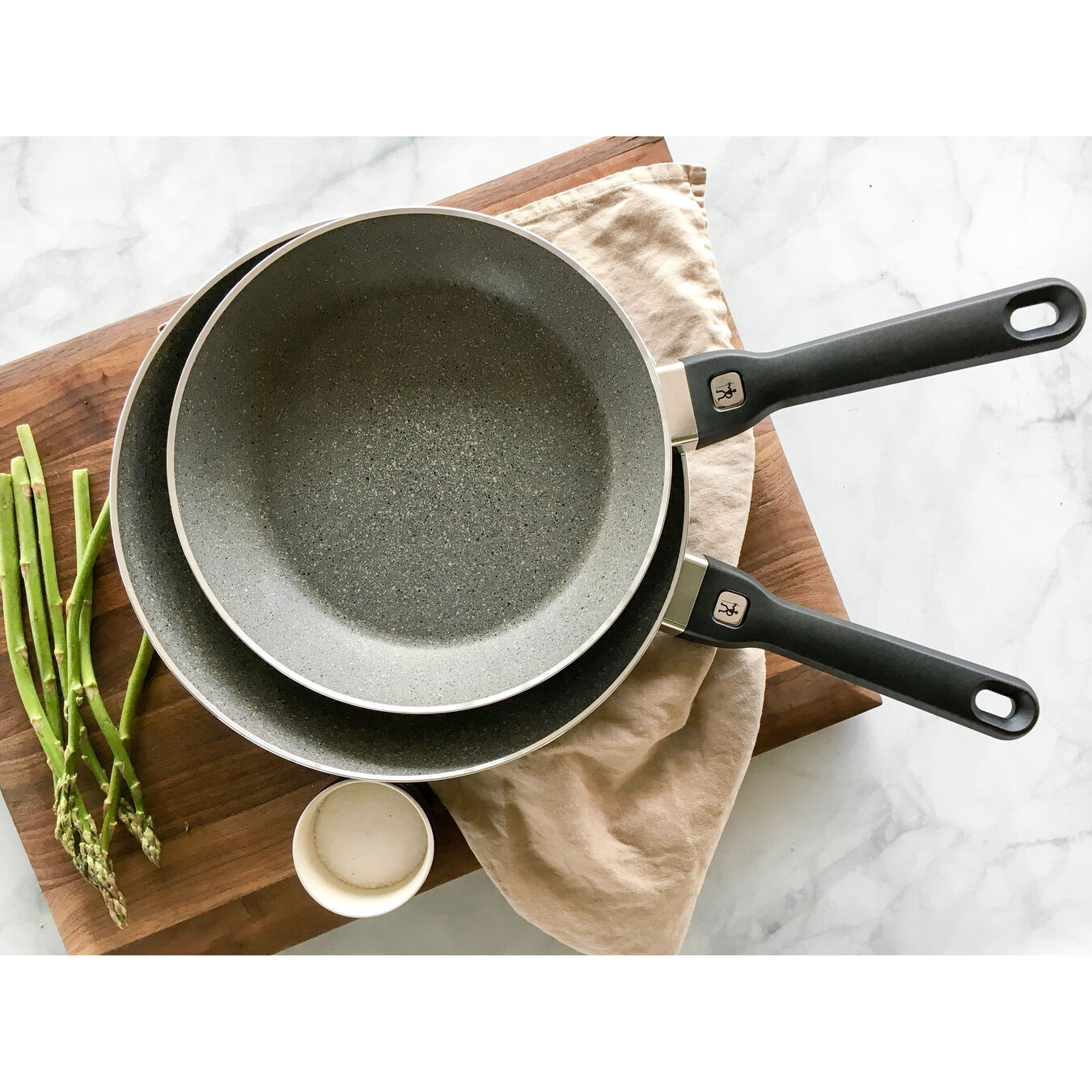 2-pc Aluminum Nonstick Fry Pan Set - Granite,,large 4