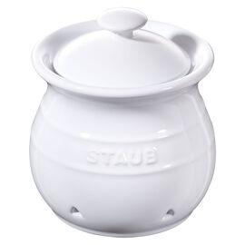 Staub Ceramique, Knoblauchbehälter Reinweiß