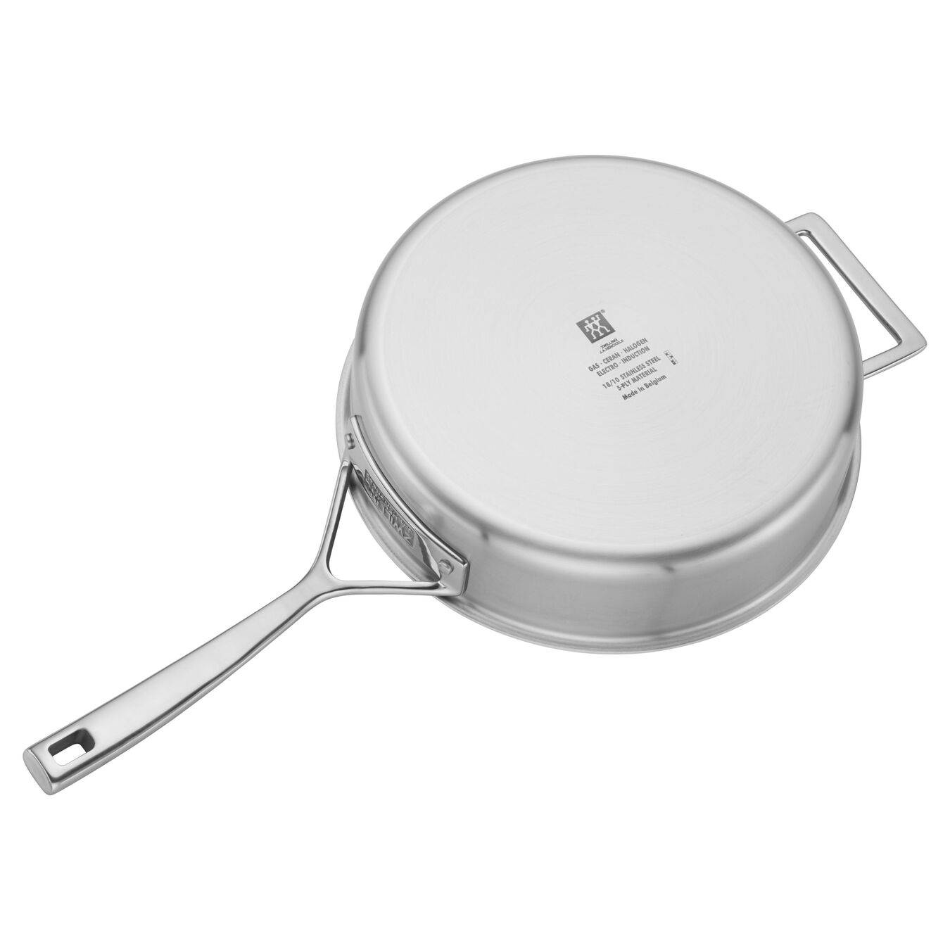 5 Ply, 18/10 Stainless Steel, 9.5-inch, Saute pan with lid,,large 4