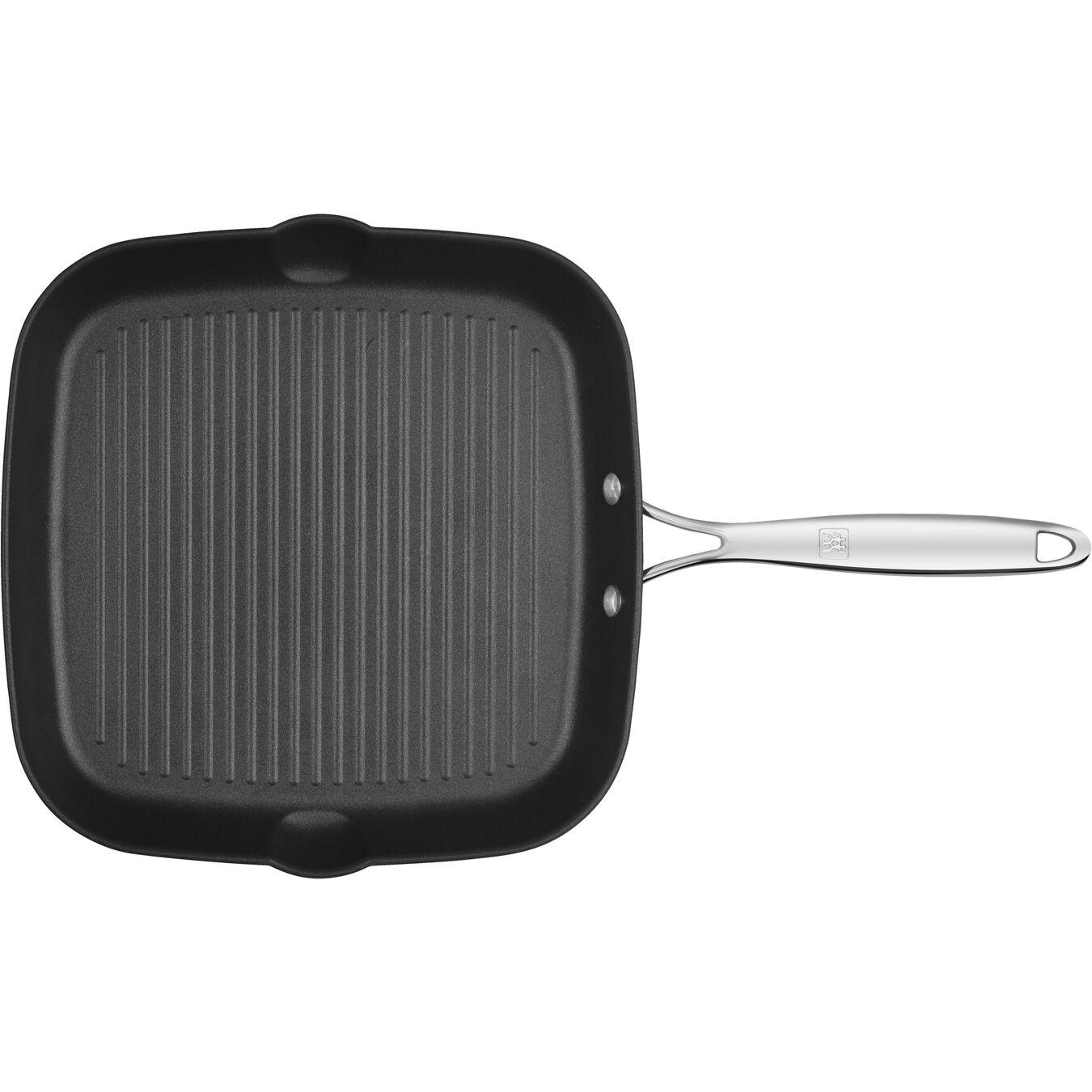 Gril 28 cm x 28 cm, Aluminium, Silver-Black,,large 3