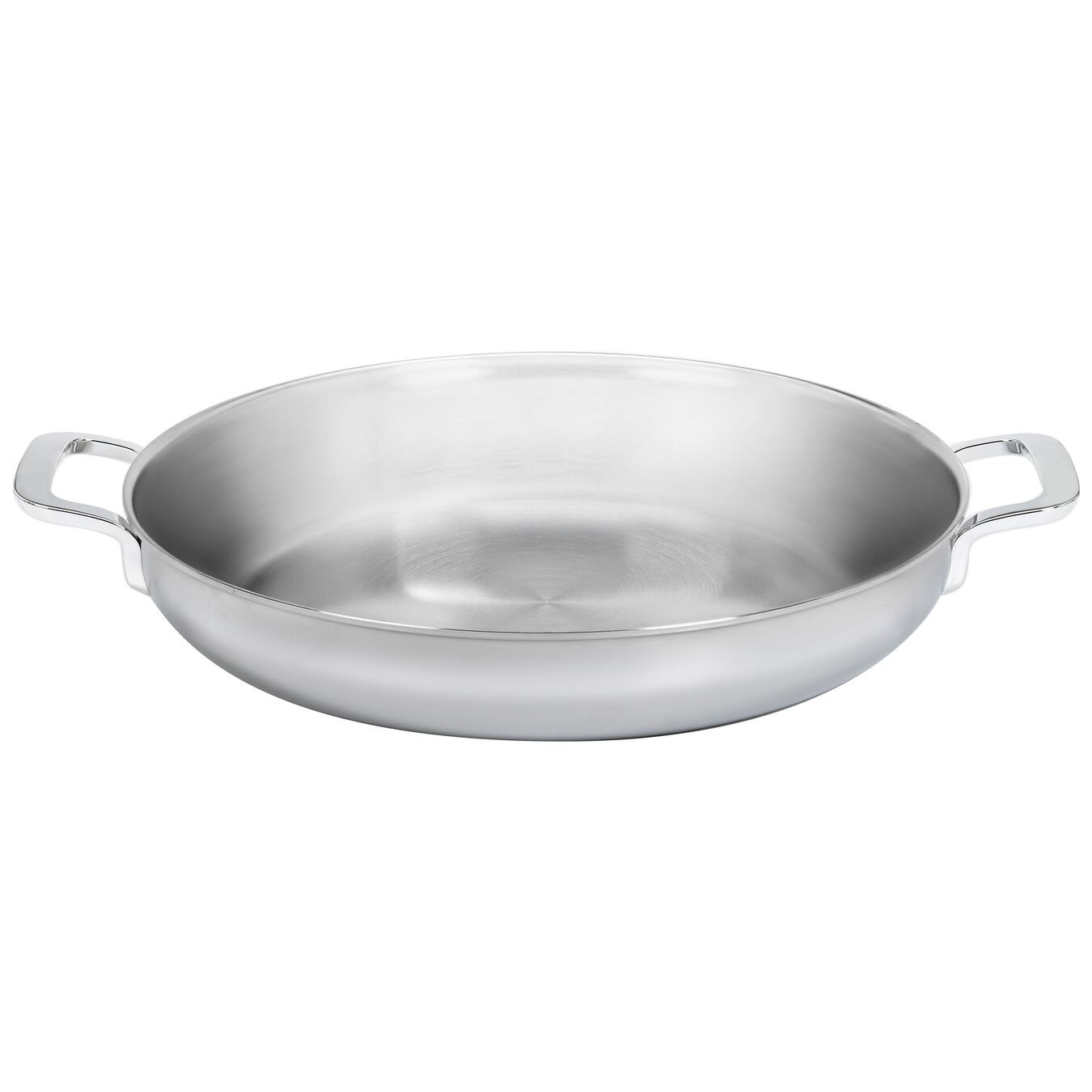 18/10 STAINLESS STEEL 28CM 7-PLY DOUBLE-HANDLED SKILLET,,large 2