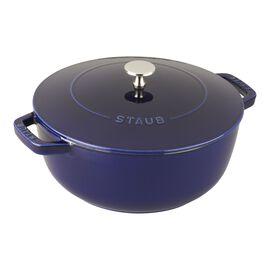 Staub Cast Iron, 9.45-inch round French oven, Dark Blue