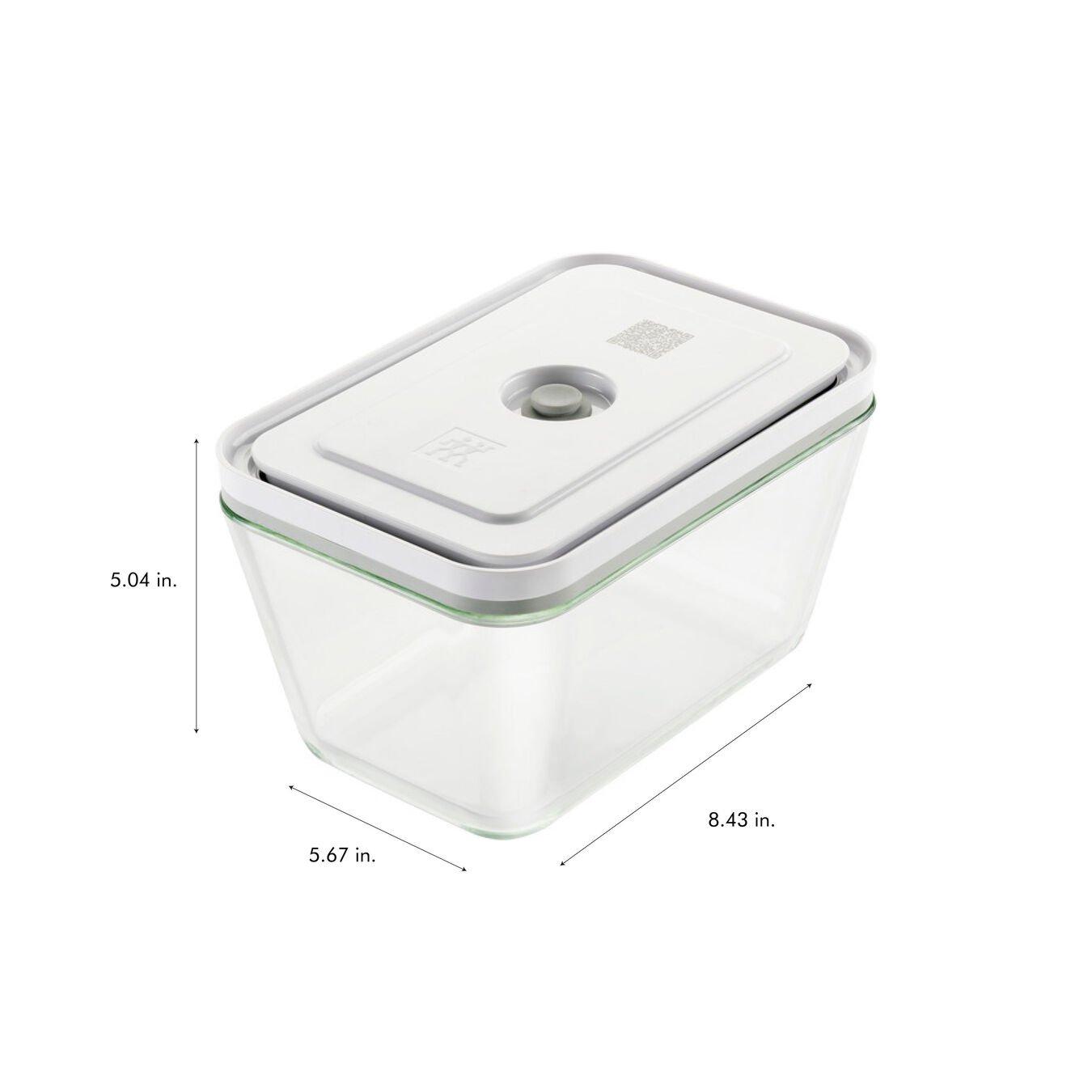 3-pc Vacuum box set, Borosilicate glass, white,,large 12