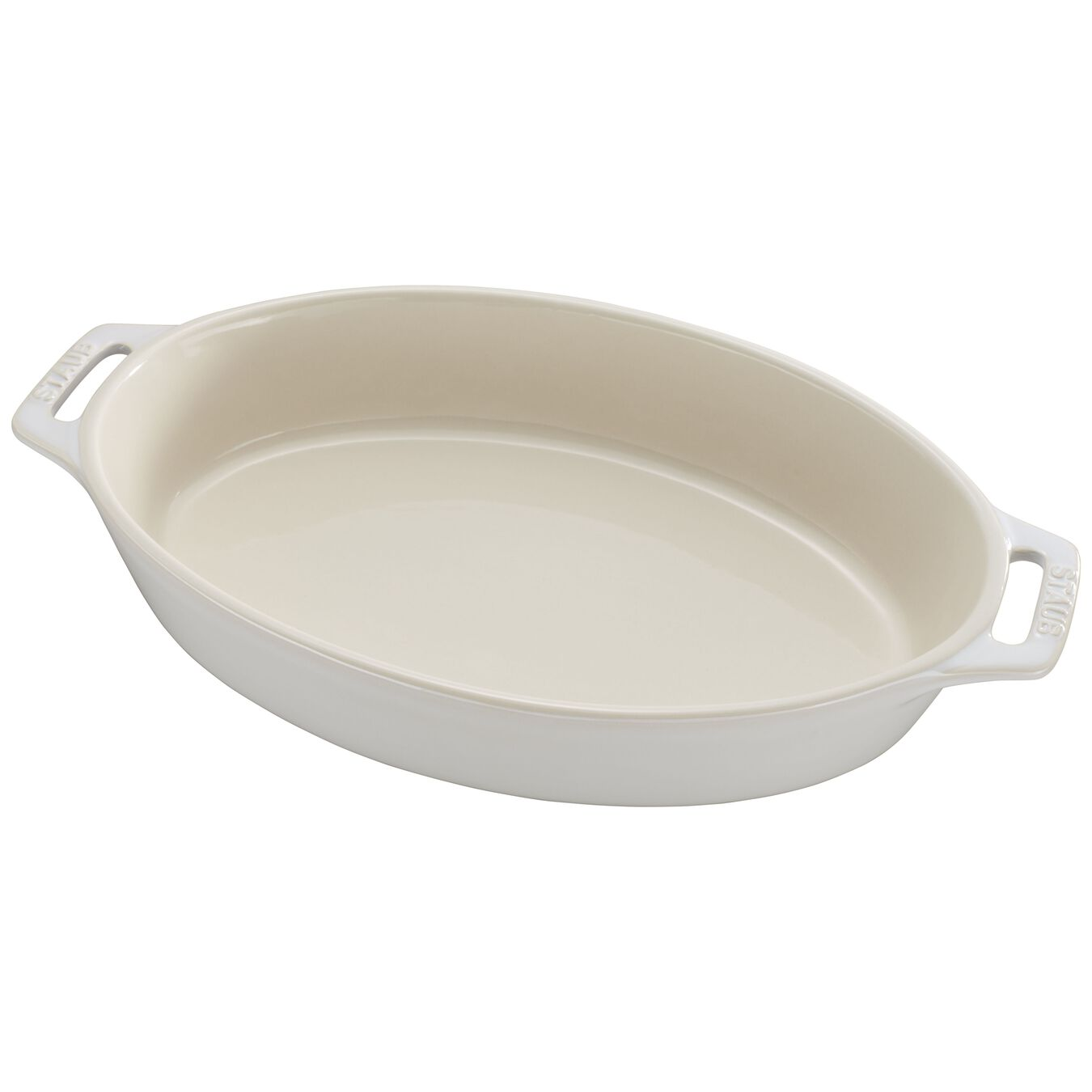 11-inch Oval Baking Dish - Rustic Ivory,,large 3