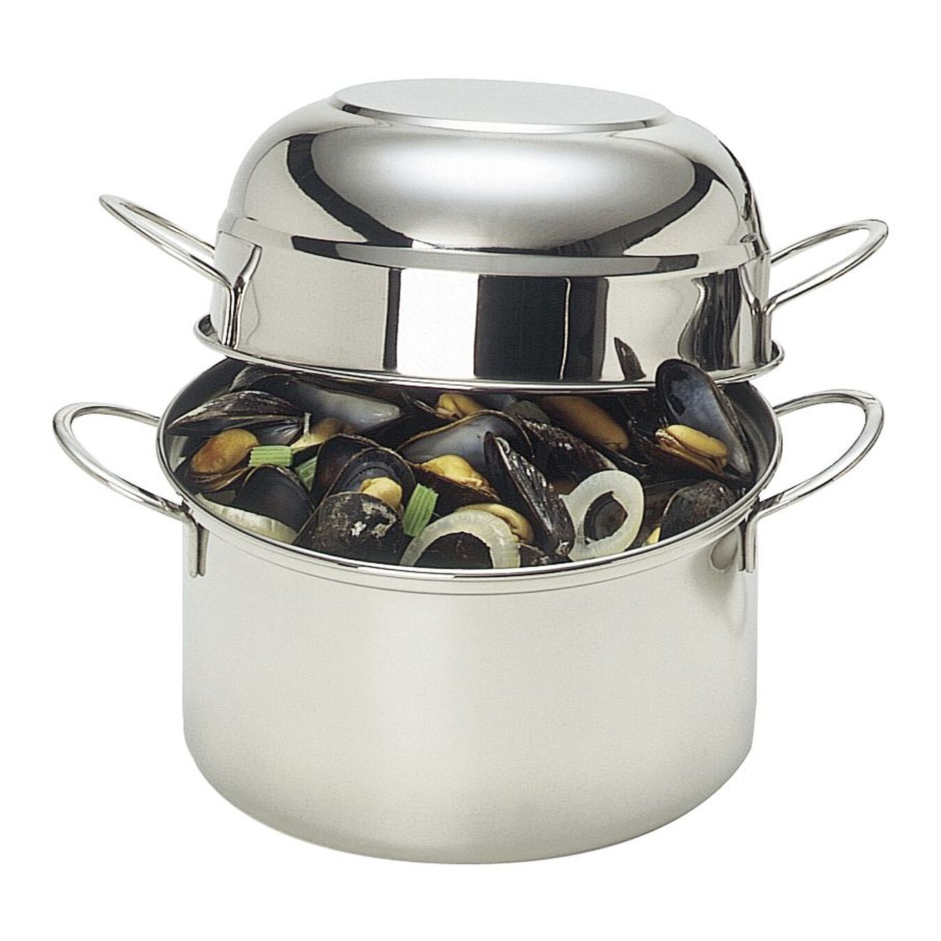 101.5-oz, 18/10 Stainless Steel, Mussel pot, silver,,large 1