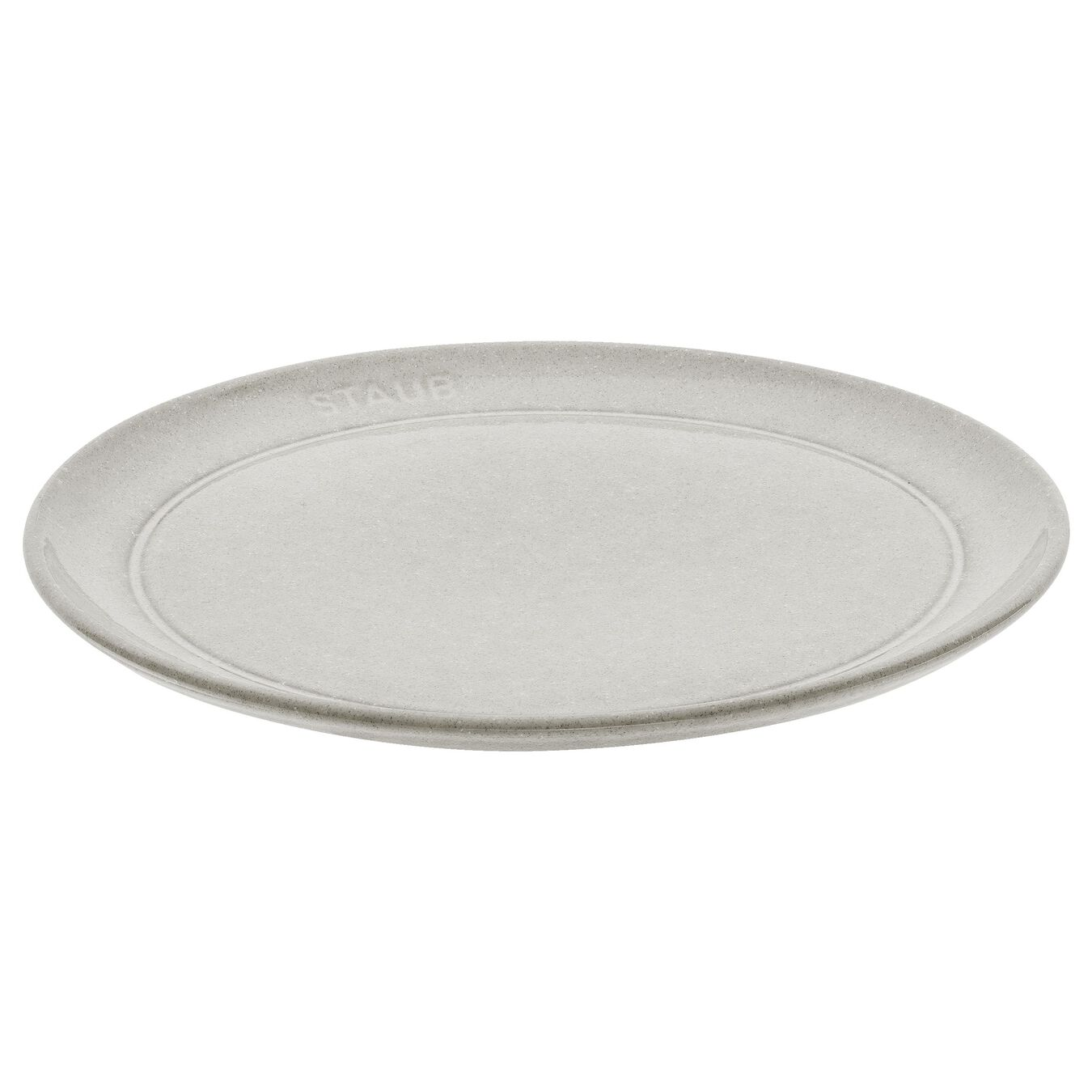 Tallrik plan 20 cm, Keramiskt, White Truffle,,large 1