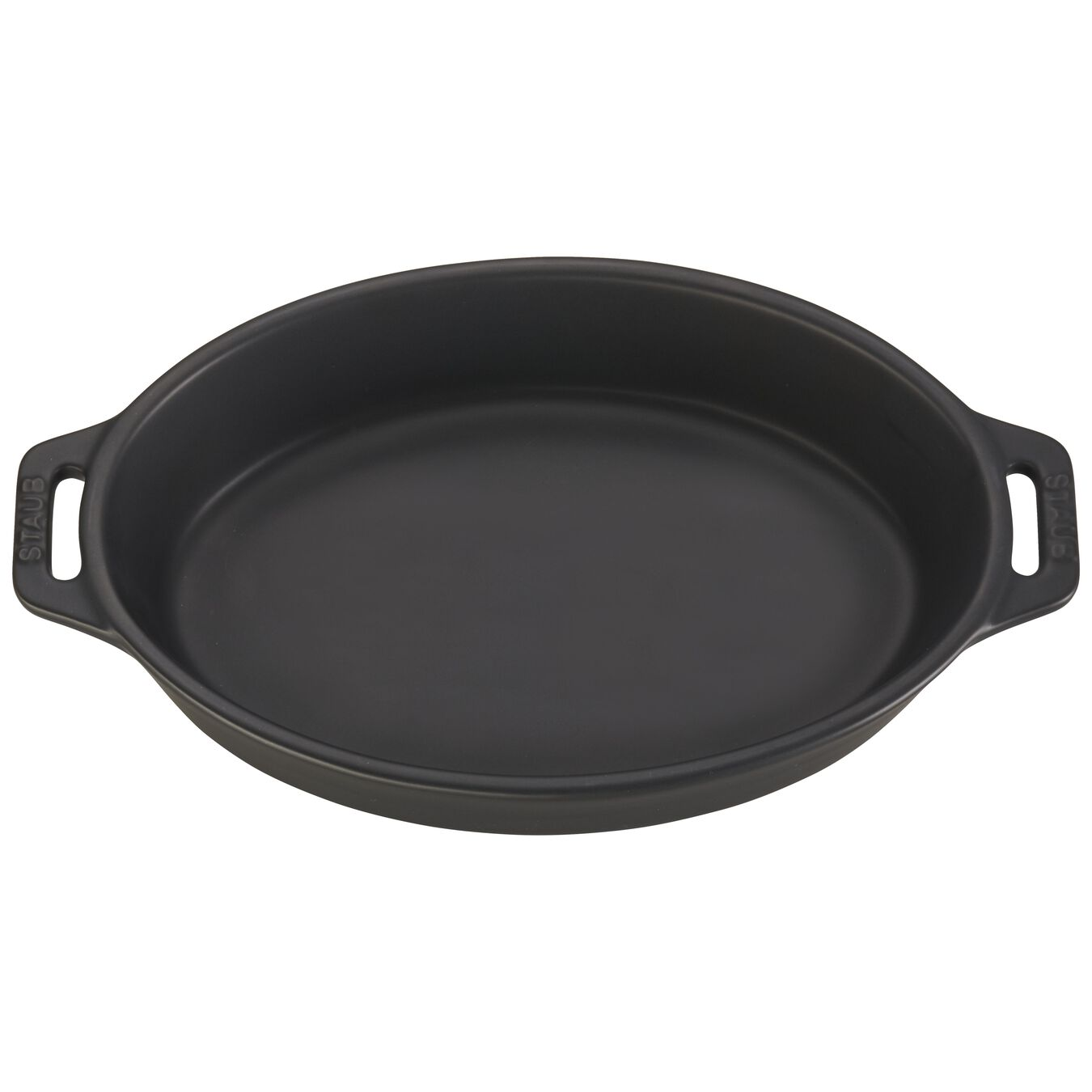 9-inch, oval, Oven dish, black matte,,large 2