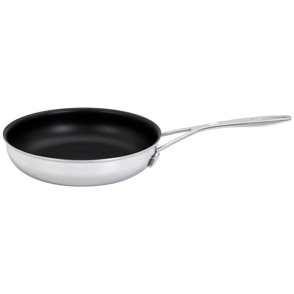9.5-inch Stainless Steel Traditional Nonstick Fry Pan,,large