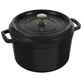 Staub La Cocotte, 5 qt, round, Tall Cocotte, black matte