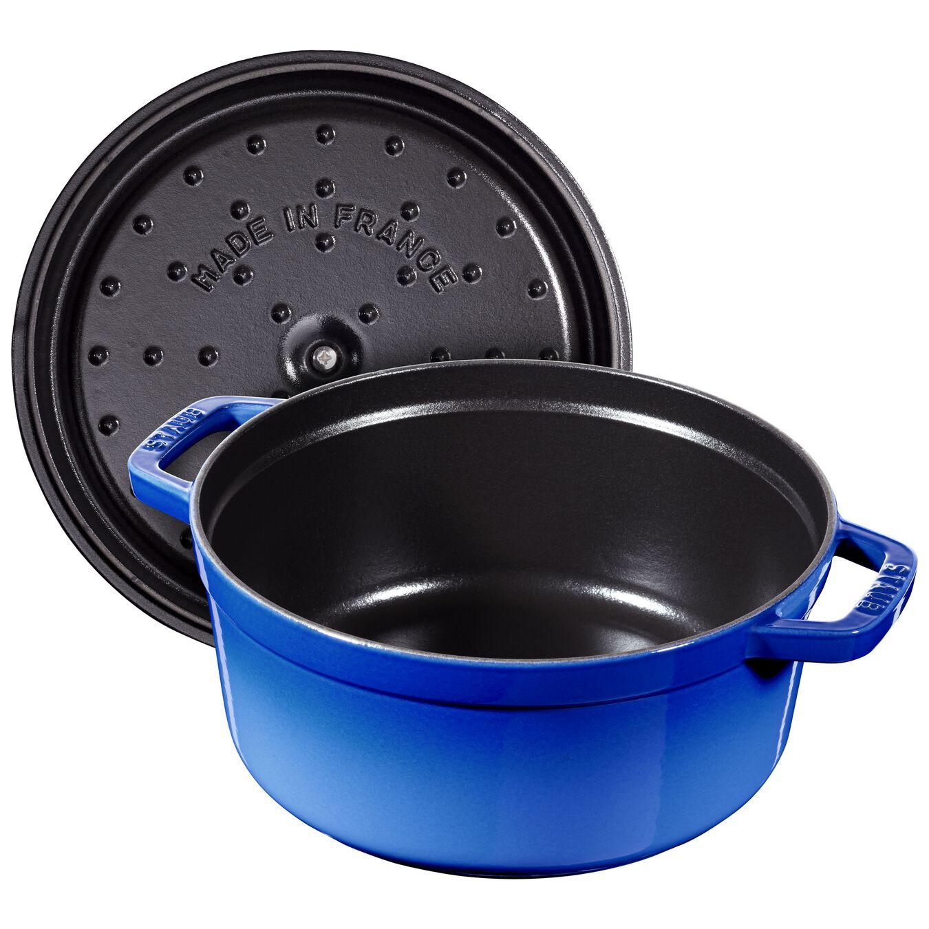 Cocotte 24 cm, Rond(e), Bleu roi, Fonte,,large 3