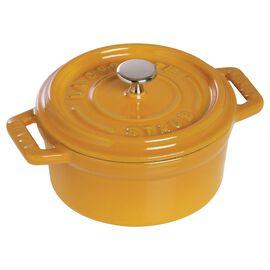Staub Cast iron, 7.25-qt-/-28-cm round Cocotte, Mustard