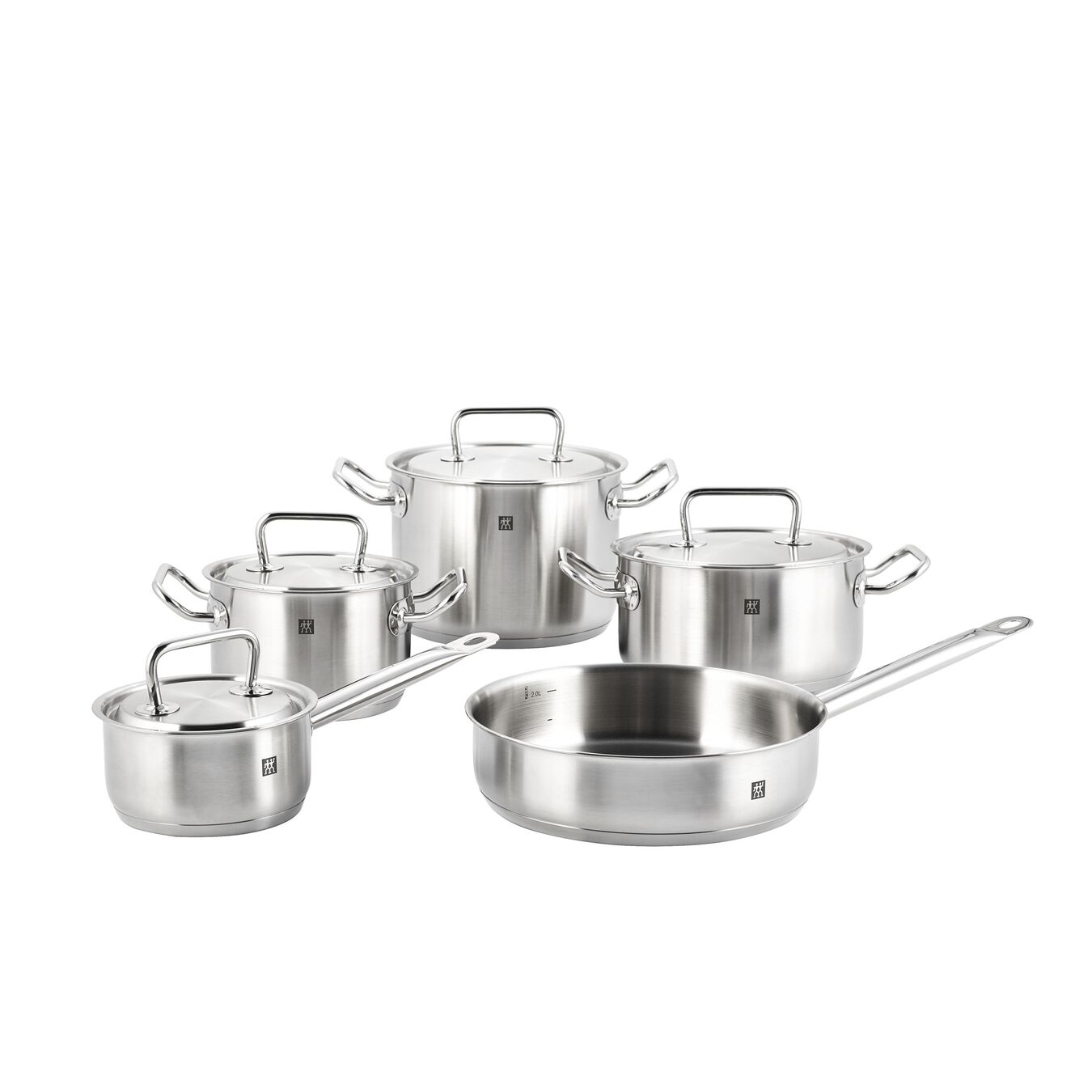 9 Piece 18/10 Stainless Steel Cookware set,,large 1