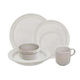 Staub Dining Line, Serving set, 72 Piece | white truffle | ceramic