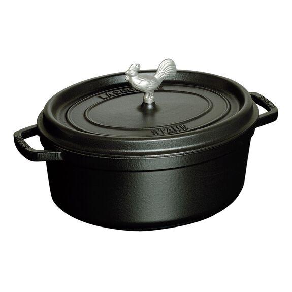 6-qt oval Cocotte, Black,,large