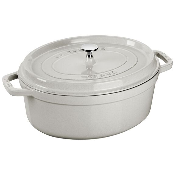 2.5-qt oval Cocotte, White Truffle - Visual Imperfections,,large
