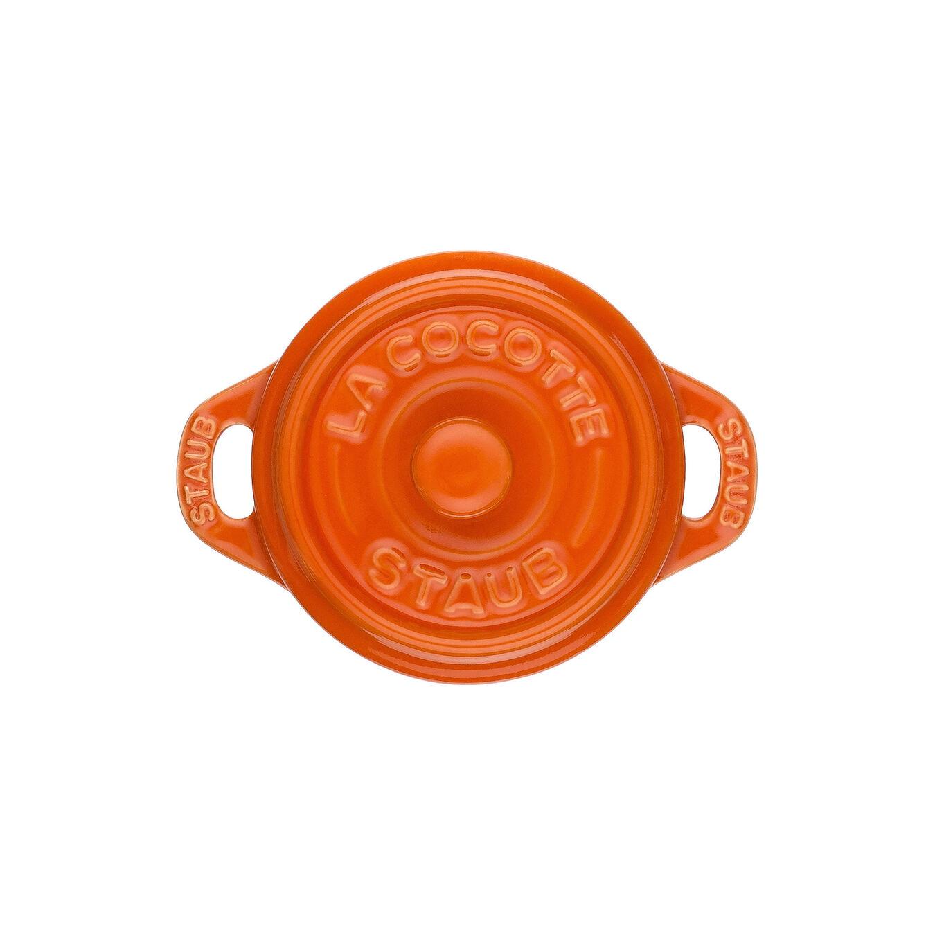 Mini Cocotte 10 cm, Rond(e), Orange, Céramique,,large 3