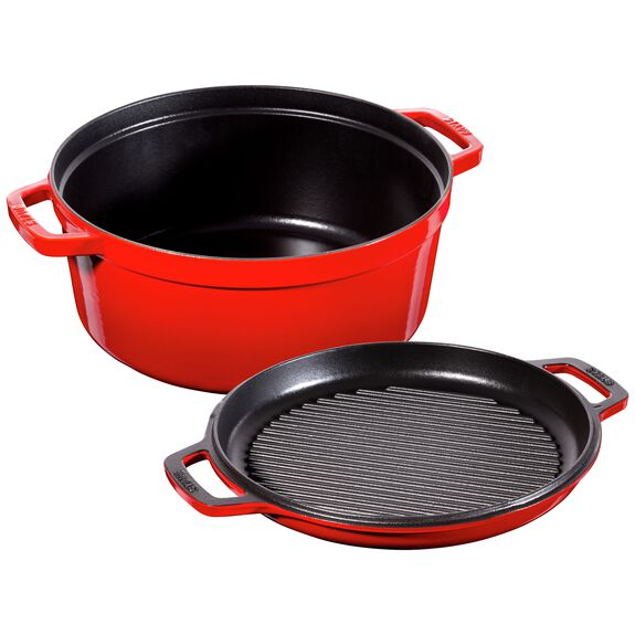 11-inch round Braise + Grill, Cherry,,large 3