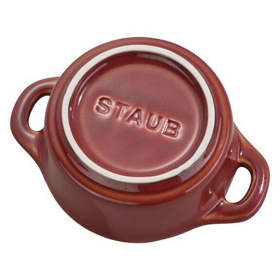 3-pc Mini Round Cocotte Set, Rustic Red, , large 6