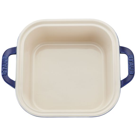 9-inch X 9-inch Square Covered Baking Dish - Dark Blue,,large 2