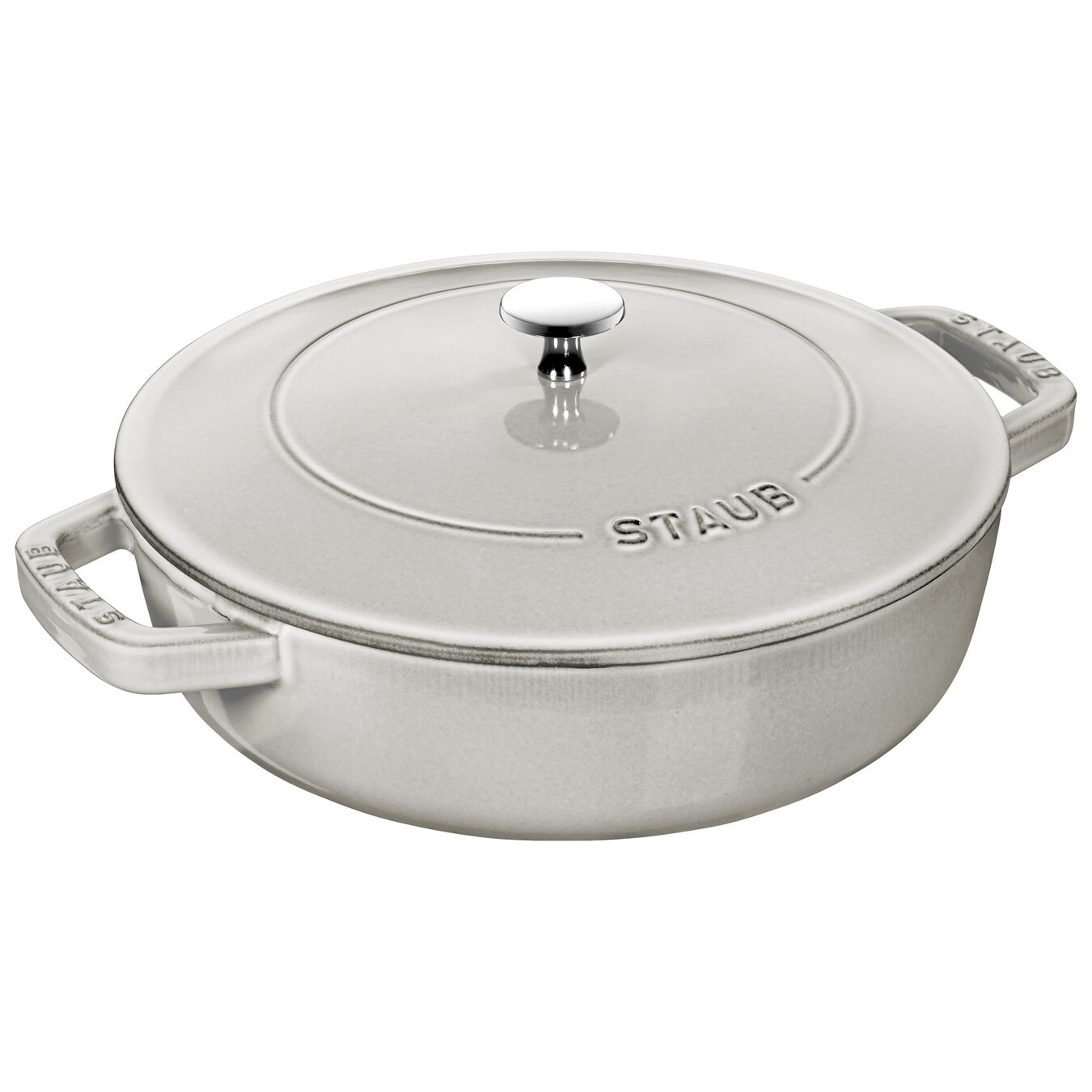 3,25 l Cast iron round Braisière, White Truffle,,large 1
