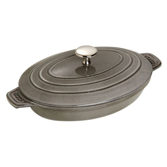 9-inch Cast iron Oven dish with lid,,large