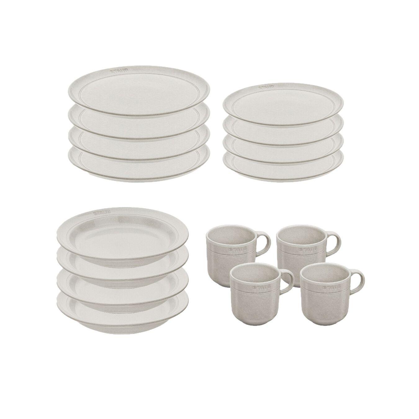 Set de service, 16-pcs   White Truffle   Ceramic   Ceramic,,large 2