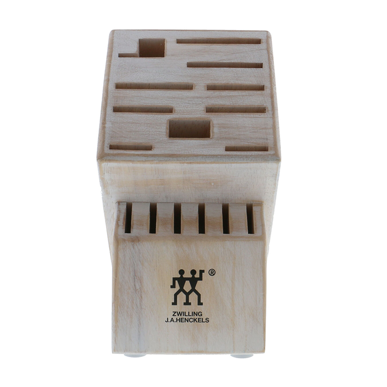 16, TWIN Rustic White Knife block empty,,large 2
