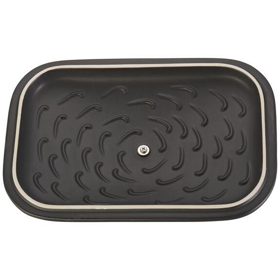 12-inch x 8-inch Rectangular Covered Baking Dish - Matte Black,,large 5