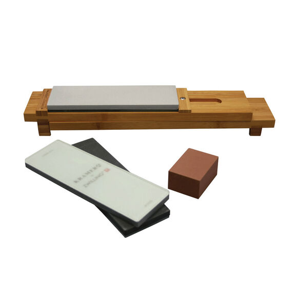 6-pc Glass Water Stone Sharpening Set,,large