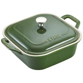 Staub Ceramics, 9-inch x 9-inch Square Covered Baking Dish, Basil