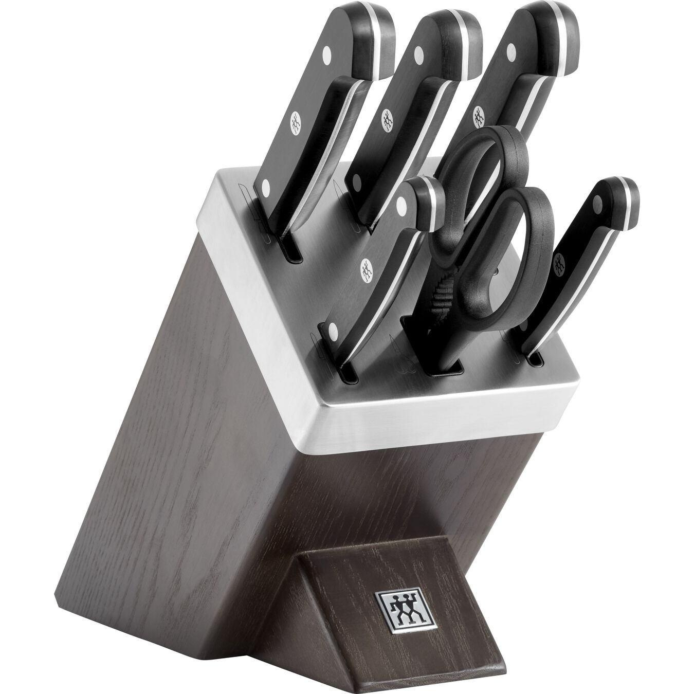 Set di coltelli con ceppo con sistema autoaffilante - 7-pz., nero,,large 1