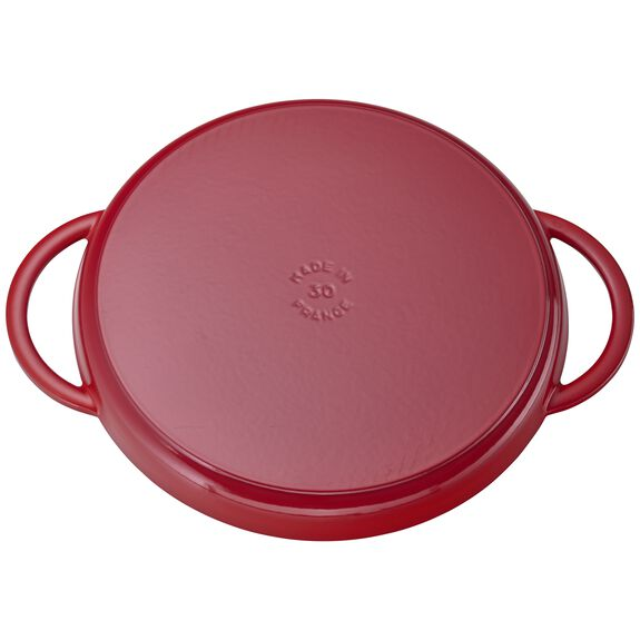 12-inch Chicken al Mattone Griddle & Press Set - Cherry,,large 4