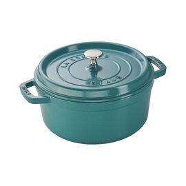 Staub Cast Iron, 4-qt Round Cocotte - Turquoise