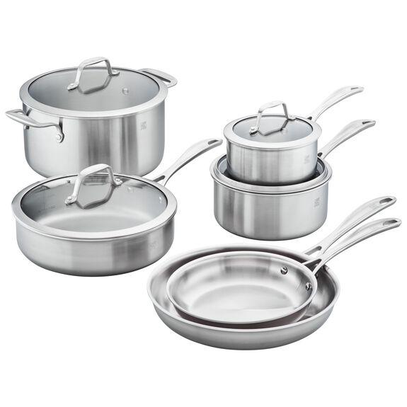 10-pc  Pots and pans set,,large