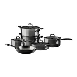 ZWILLING Nero, 10 Piece 18/10 Stainless Steel Cookware set